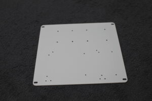Add Aluminum back plate powder coated